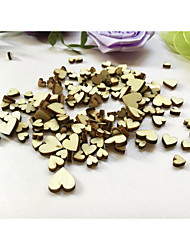 100PCS Mini Wooden Heart 6MM 8MM 10MM 12MM Mixed Hearts Wedding Baby Bridal Shower Table Confetti Scatters