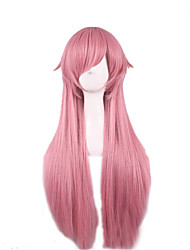 Cos Wig Wire High Temperature Smoke Pink Anime Wigs