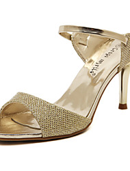 Women's Shoes Slingback Buckle stiletto Heel Sandals for Dress/Party&Evening/Casual Gold and Silver Colors Available