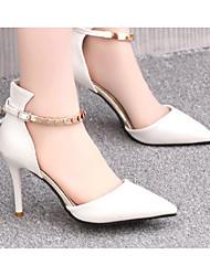 Damen-High Heels-Kleid / Lässig-PU-Stöckelabsatz-Pumps-Schwarz / Blau / Rosa / Weiß