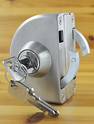 Glass Door Lock Latches 304 Stainless Steel without Hole Bidirectional Unlock Key - Knob Frame Glass Door