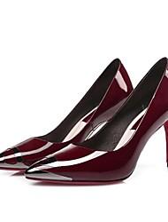 Homme-Extérieure-Noir / Bordeaux-Talon Aiguille-Talons-Chaussures à Talons-Cuir
