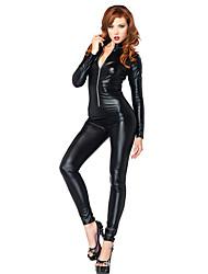 Costumes More Costumes Halloween / Carnival Black Solid Terylene Leotard/Onesie