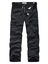 Men's Camouflage Casual / Sport Sweatpants,Cotton Black / Green / Yellow / Gray