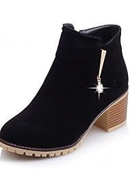 Feminino-Botas-Saltos / Coturno / Inovador / Botas de Cowboy / Botas de Neve / Botas Cano Curto / Arrendondado / Botas da Moda / Botas de