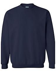 Herren Pullover-Einfarbig Freizeit / Sport Baumwolle / Polyester Lang Schwarz / Blau / Lila / Rot / Weiß / Grau