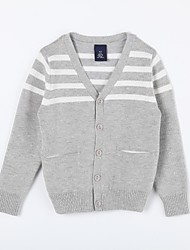 Boy's Casual/Daily Striped Sweater & CardiganCotton Fall Gray