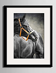 E-HOME® Framed Canvas Art, Dependent on Two Horses  Framed Canvas Print One Pcs