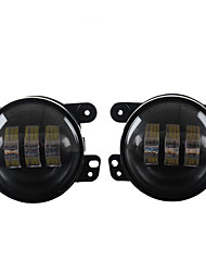 Wrangler 4 Inch 30W LED Round Headlight Conversion Lamp Fog Lamp