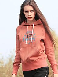Aporia.As® Damen Rundhalsausschnitt Lange Ärmel Kapuzenpullover & Sweatshirts Beige / Orange-MZ12034