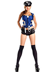 Косплэй Kостюмы / Костюм для вечеринки Полиция Фестиваль / праздник Костюмы на Хэллоуин черный / синий ОднотонныйПлатье / Больше