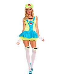 Costumes Plus de costumes Halloween Vert Mosaïque Térylène Robe