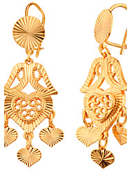 Celebrity Fashion Jewelry Romantic Heart Design 18K Gold Plated For Women Party Gift WholesaleE10146