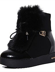 Women's Boots Fall / Winter Snow Boots / Fashion Boots Leather Outdoor / Casual Flat Heel Pearl