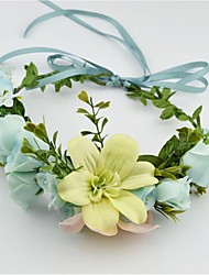 Women's / Flower Girl's Fabric Headpiece-Wedding / Special Occasion / Casual / Outdoor Wreaths 1 Piece Clear Round 17