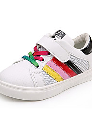 Unisex Sneakers Spring / Fall Comfort PU Casual Flat Heel Magic Tape Black / Green / Red Sneaker