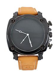 Men's Fashion Watch / Quartz Japanese Quartz Leather Band Vintage Casual Brown