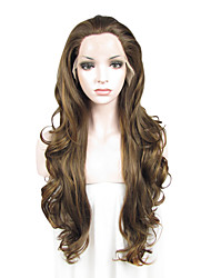 IMSTYLE 26 Long Wave Heat Resistant Fiber Heavy Density Synthetic Wigs Lace Front