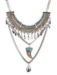 May  polly  Europe exaggerated retro fashion drop gem Langya multilayer Necklace