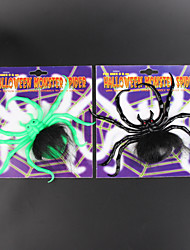 jouets 2pcs Halloween dupent nouvelle araignée araignée escalade en peluche fenêtre bâton lumineux 5cm