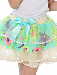 Girl's Casual/Daily Floral SkirtOthers All Seasons Blue / Red