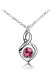 Unique Looks Top Quality 18K White Gold Plating and Real Silver Material Pendant Necklace