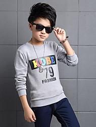 Jungen T-Shirt-Lässig/Alltäglich Druck Baumwolle Winter Orange / Grau