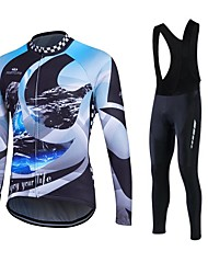 Fastcute® Cycling Jersey with Bib Tights Women's / Men's / Unisex Long Sleeve BikeBreathable / Thermal / Warm / Quick Dry / Fleece Lining