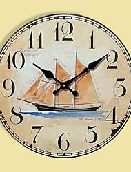 Moderno/Contemporaneo Altro Orologio da parete,Tonda Altro 30*30cm*3cm Al Coperto Orologio