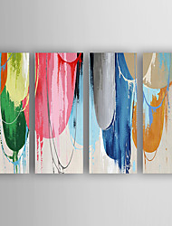 Oil Painting Abstract Set of 4 Hand Painted Canvas with Stretched Framed Ready to Hang