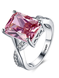 Women's Band Rings Statement Rings Ruby Love Fashion Personalized Costume Jewelry Gemstone Sterling Silver Zircon Gem Imitation Diamond