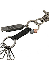 Key Chain / Punk Fashion Key Chain Black PU Leather / Metal