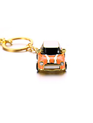 Carro do metal do cristal com keychain usb 2.0 flash pendrive u disco 8gb