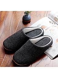 Men's Slippers & Flip-Flops Spring / Fall / Winter Comfort Cotton Casual Flat Heel Others Black Others