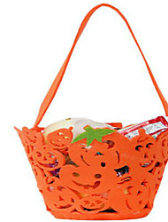 Portable Pumpkin Halloween Bag Non-woven Pumpkins Barrels Children Dress Up Activity Props The Candy Bags Color Random