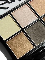 8 Paleta de Sombras Secos Paleta da sombra Pó Grande Maquiagem para o Dia A Dia