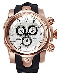 SHHORS Big Round Dial Mens Sport Watches Fashion Quartz Wristwatch Have Five Colors