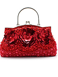 L.west Women Elegant High-grade Flower Sequins Evening Bag
