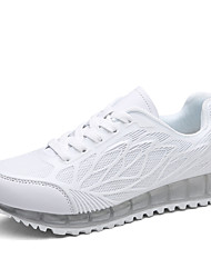 Frauen Laufsportschuhe Frühjahr / Komfort Tüll beiläufige flache Ferse grün / pink / weiß Sneaker fallen