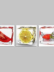 arte da parede vegetal e frutas limão lona para a decoração da cozinha pronto para pendurar
