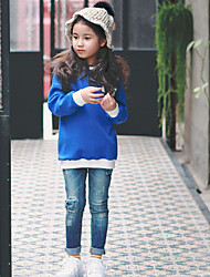 Girl's Casual/Daily Solid JeansCotton Winter / Fall Blue