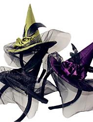 1шт ведьма голова обруча Хэллоуин ведьма голова пряжка Хэллоуин реквизита партии поставок