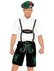 Costumes de Cosplay / Costume de Soirée Fête d'Octobre/Bière / Serveur / Serveuse Fête / Célébration Déguisement Halloween Blanc / Noir