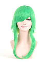 Fashion European and American Straight Green Yellow Ombre Color Women Synthetic Wigs