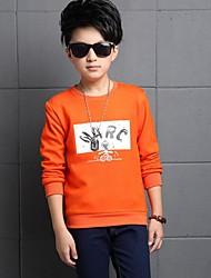 Jungen T-Shirt-Lässig/Alltäglich Druck Baumwolle Winter Orange / Rot