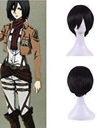 janpanese anime homens de seda cosplay dia das bruxas personalidade naturais brilhantemente peruca curta traje preto