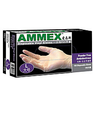 PVC Powder-free Disposable Oil Resistant Gloves  Size  L