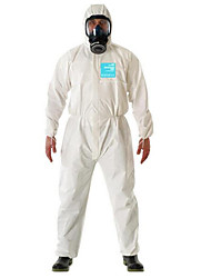 White Standard Anti-static Anti-splash Protective Clothing  Size L