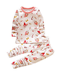 Girl's Casual/Daily Print SleepwearCotton Winter Pink
