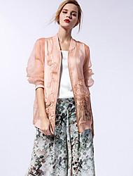новый, прежде чем женские выходить улица шик весна / лето jacketssolid стоять длинный рукав